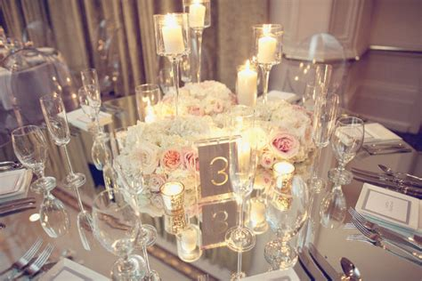 mirrored tables bright occasions