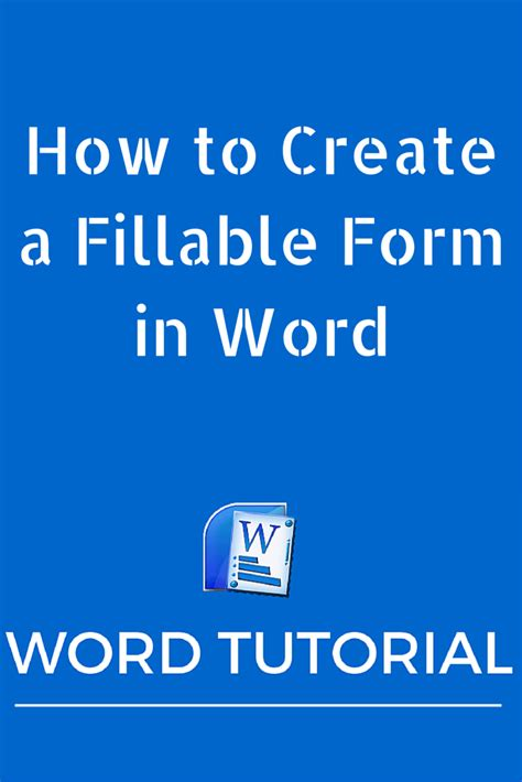 create  fillable form  word microsoft office