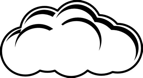 cloud clipart black and white cloud outline clip at clker vector clip