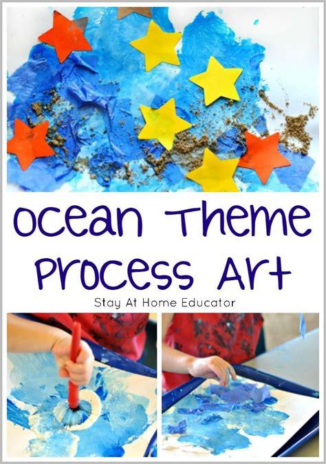 ocean art  toddlers  preschoolers process art