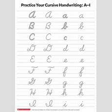 Writing Practice Cursive Letters  Worksheets & Printables  Scholastic Parents