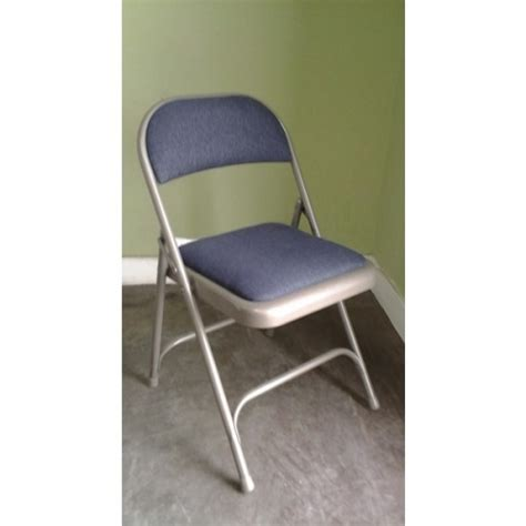 steel folding chair w padded seat 18 quot height allsold ca