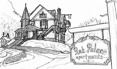 Coraline Palace Apartments Drawing Drawings Sketches Pencil