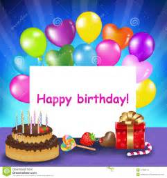 happy birthday card vector stock photo image 17783170