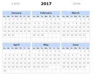 2017 Calendar with Holidays Printable