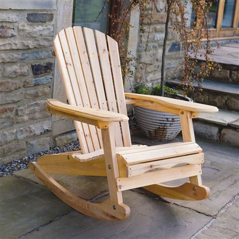 bowland outdoor garden patio wooden adirondack rocker
