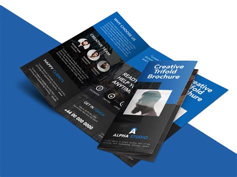 creative agency trifold brochure  psd template