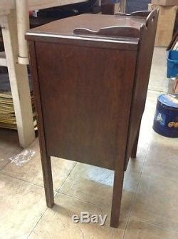 vintage antique rare swing door wood sewing cabinet  table