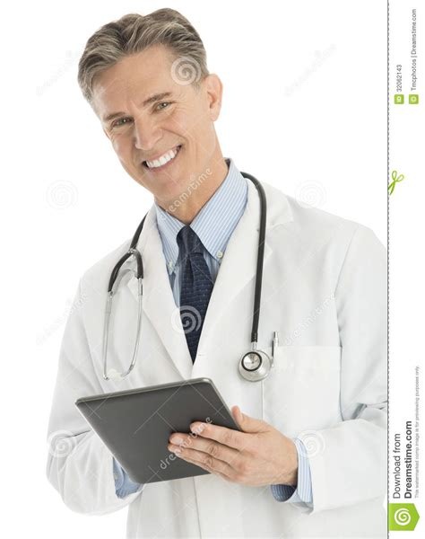 Doctor Tablett by Doctor Holding A Tablet Stock Photography Cartoondealer