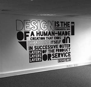 Typographic quo... Wall Typography Quotes