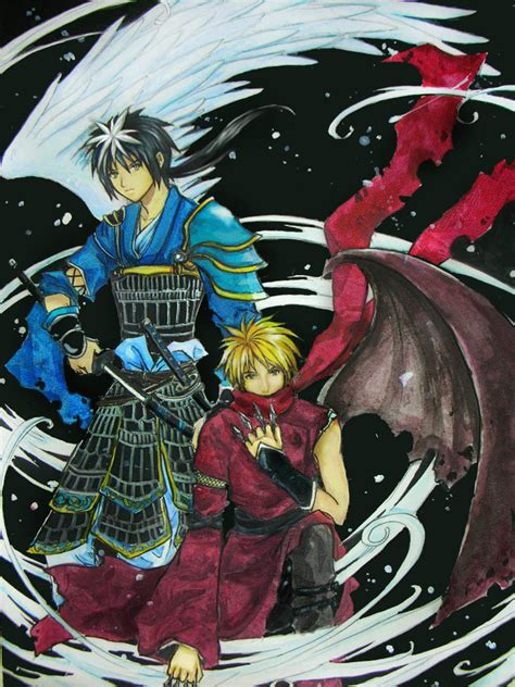Traditional Samurai Art Wallpaper Samurai Vs Ninja By Chibi Oneechan On Deviantart