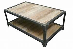 Table Basse Fer Et Bois : meuble de la collection vintage et style industriel de fs ~ Teatrodelosmanantiales.com Idées de Décoration