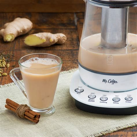 Just milk and syrup for an afternoon surprise. Mr. Coffee® Hot Tea Maker and Kettle - White