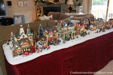 Walmart Christmas Window Decorations by Christmas Village Display Tables Happy Holidays