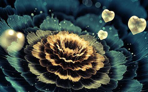 heart  fractal fractal flowers petals love digital