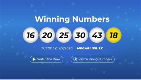 September 22, 2020there were no matches for the winning numbers in the most recent usa mega millions draw. Mega Millions winning numbers for July 7th, 2020