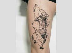 Tatouage Lion Geometrique Tattoo Art