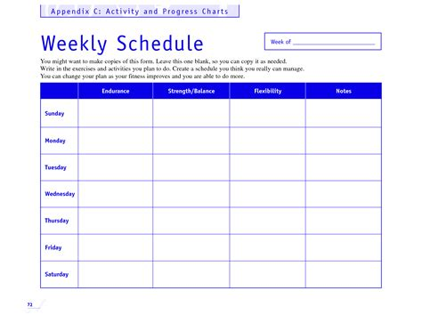 Weekly Fitness Plan Template by Powerpoint Calendar Template Newhairstylesformen2014