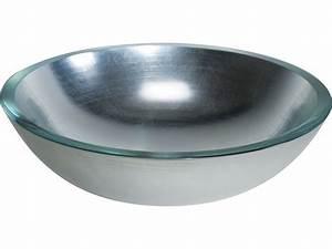 Waschbecken Glas Rund : glaswaschbecken aufsatzbecken lineabeta silber rund 42 cm ~ Markanthonyermac.com Haus und Dekorationen