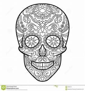 Tete De Mort Mexicaine Dessin : dessin tete de mort avec fleur ~ Melissatoandfro.com Idées de Décoration