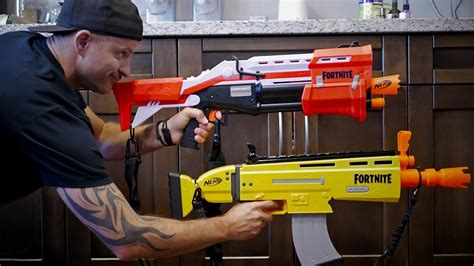 nerf gun war  nerf fortnite blasters youtube