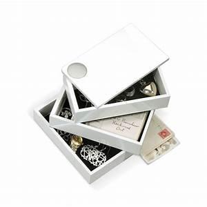 Boite A Bijoux Design : boite bijoux laqu e spindle coffret bijoux 3 tiroirs design umbra ~ Melissatoandfro.com Idées de Décoration
