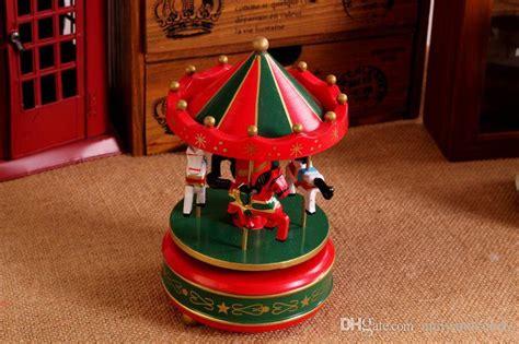 vintage wooden merry   carousel  box kids