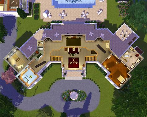 mansion floor plans sims building plans 59313