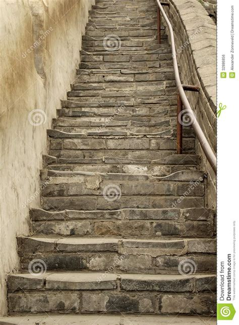 ancient stairs stock photo image  green mystic