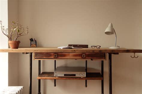 industrial stand up desk industrial reclaimed wood standing desk rustic desks