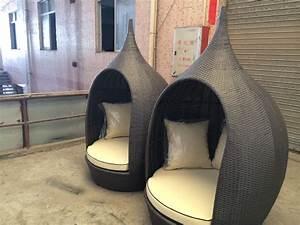 Lounge Sessel Rattan : modernes design outdoor wicker pe rund rattan lounge sessel mit wasserdichte polster rattan ~ Frokenaadalensverden.com Haus und Dekorationen
