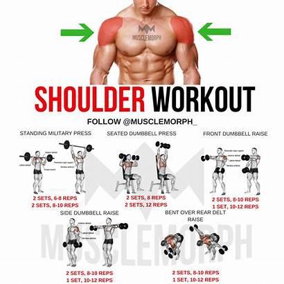 Workout Gym Shoulder Workouts Exercises Musclemorph Shoulders