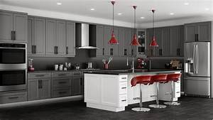 Shaker Grey Kitchen Cabinets-We ship everywhere! RTA, Easy!
