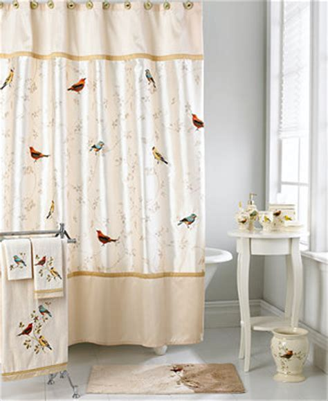 Avanti Bath Accessories, Gilded Birds Shower Curtain Bathroom Accessories Bed & Bath Macy's