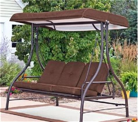 outdoor 3 seater hammock swing glider canopy patio