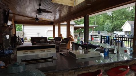 how to install kitchen island joe m staub building covered patio with outdoor