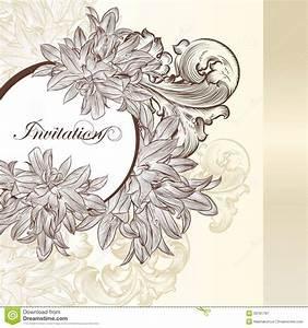 elegant wedding invitation card for design stock vector With elegant floral wedding invitations vector