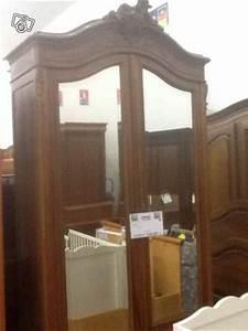 Armoire Ancienne 2 Portes Miroir N192 Vendre La
