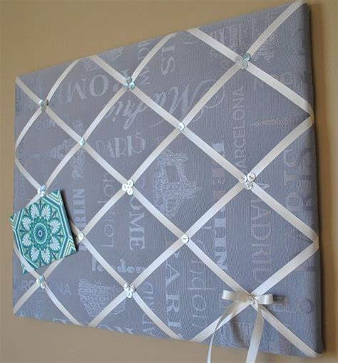 Meme Boards - grey and ivory french memo board