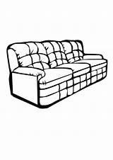 Coloring Couch Comfy Clip Spongebob Library Clipart Coloringhome sketch template