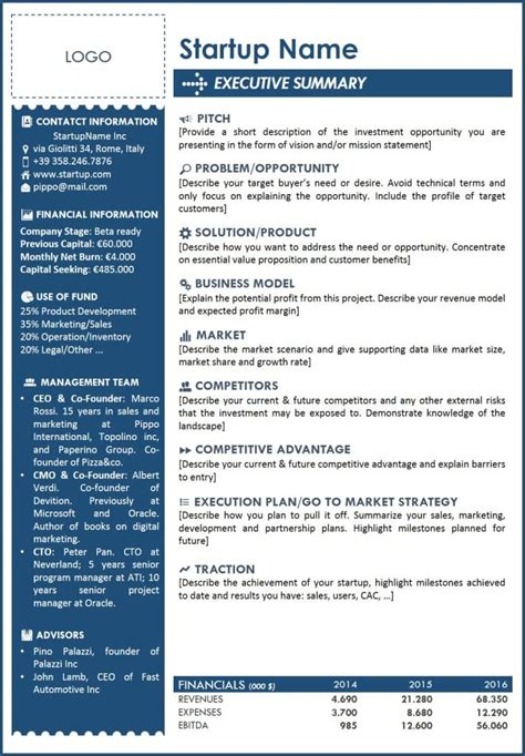Executive Summary Template 5 Free Executive Summary Templates Excel Pdf Formats