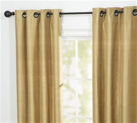 pottery barn curtains grommet dupioni silk grommet drape 50 x 63 quot wheat traditional