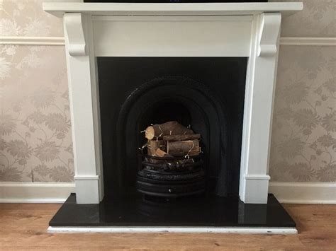 painting cast iron fireplace white cast iron fireplace with painted white solid wood surround