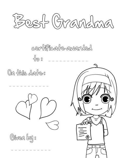 Happy Birthday Grandma Coloring Pages Printable