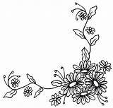 Corner Flower Border Drawing Clipart Daisy Borders Floral Chain Tattoo Flowers Drawings Tattoos Foot Getdrawings Want Clip Coloring Outline Adapt sketch template