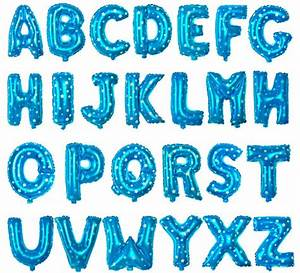 aliexpresscom buy 16inch blue letter balloon aluminum With letter balloons in store