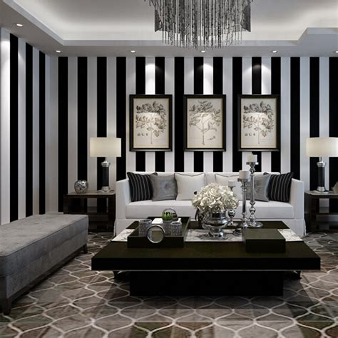beibehang black  white stripes wallpaper  walls