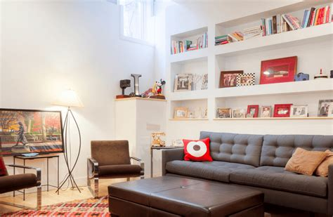 How To Decorate Open Shelves In Living Room : Basement Decorating Ideas That Expand Your Space