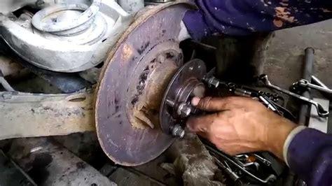 replace  install  rear wheel bearing bmw