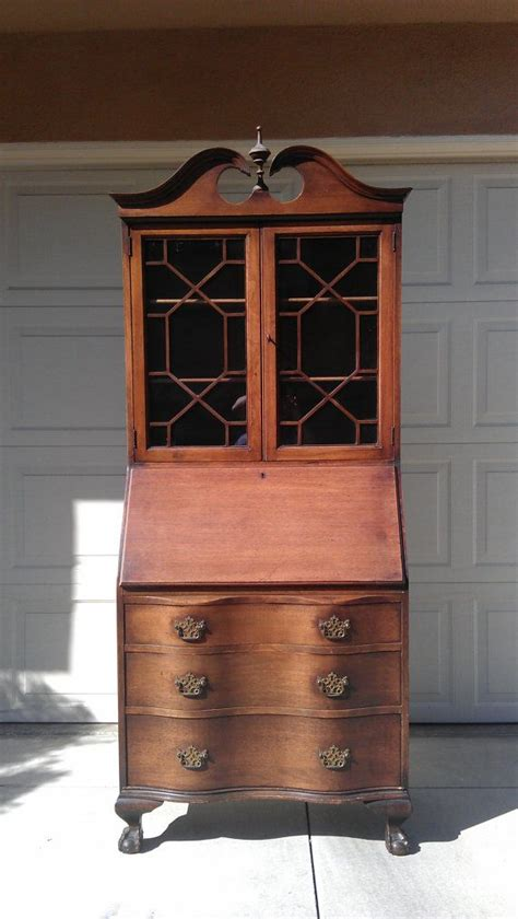 vintage secretary desk with hutch gorgeous chippendale secretary hutch desk antique regecny